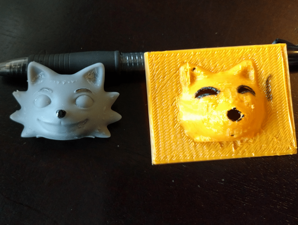 3D-printed paint mask in use