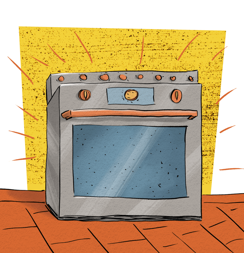 An oven is Gary's newest idea to get around the First and Second law.
