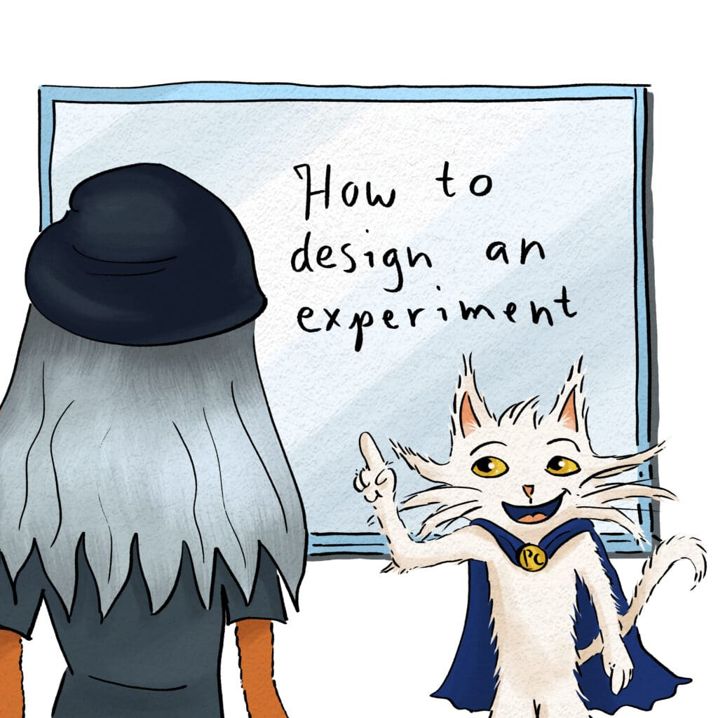 Process Cat's going to teach us all about experimental design!