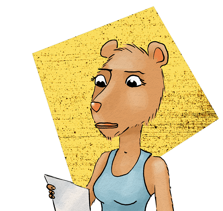 Princess Capybara reading the first letter